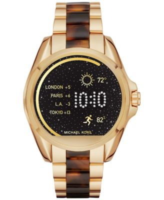 michael kors access unisex digital bradshaw goldtone stainless steel u0026 acetate smart watch