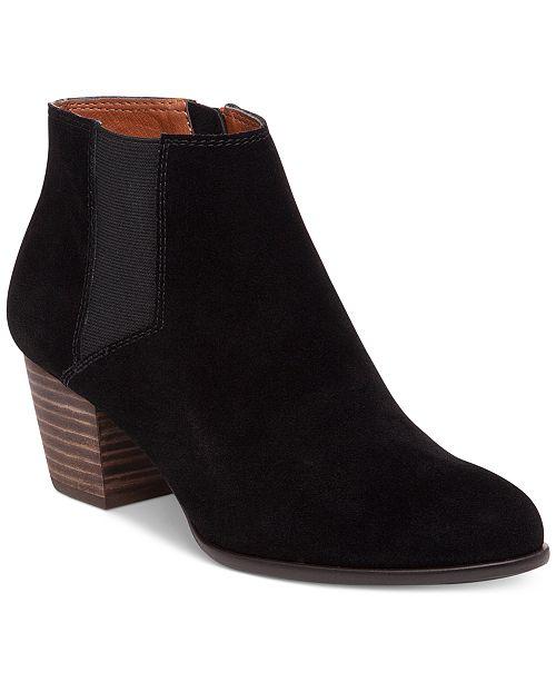 Lucky Brand Women's Tulayne Block-Heel Gore Booties