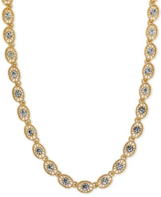 Image of 2028 Crystal Filigree Collar Necklace, a Macy's Exclusive Style
