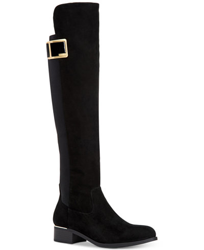 Calvin Klein Women\'s Cyra Wide-Calf Over-The-Knee Boots - Boots ...