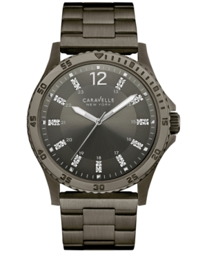Caravelle New York by Bulova Men's Gunmetal Ion-Plated Stainless Steel Bracelet Watch 44mm 45A138