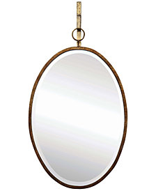 Metal Framed Oval Wall Mirror with Bracket