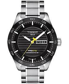 Men's Swiss Automatic PRS 516 Stainless Steel Bracelet Watch 42mm T1004301105100