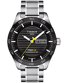 Tissot Men's Swiss Automatic PRS 516 Stainless Steel Bracelet Watch 42mm T1004301105100