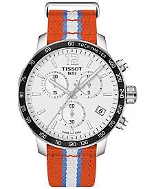 Tissot Unisex Swiss Oklahoma City Thunder Quickster Orange, White & Light Blue Strap Watch 42mm T0954171703714