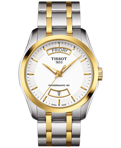 Tissot Men's Swiss Automatic Couturier Powermatic 80 Two-Tone Stainless Steel Bracelet Watch 39mm T0354072201101