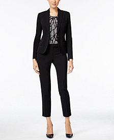 Anne Klein One-Button Blazer, Printed Top & Skinny Pants