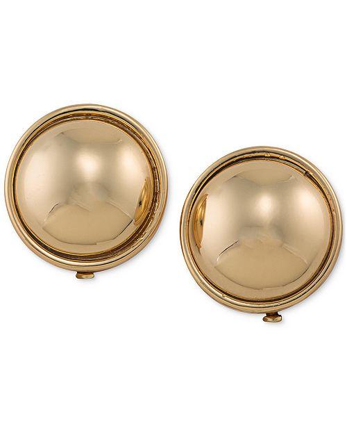 Lauren Ralph Lauren Gold-Tone Round Sphere Clip-on Earrings