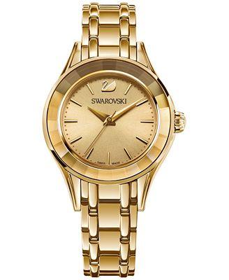 Swarovski Women's Swiss Alegria Gold-Tone Stainless Steel Bracelet Watch 33mm 5188840