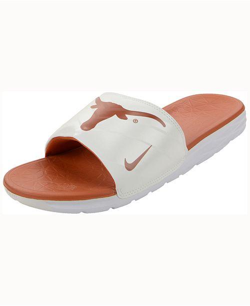 673a88b5e0e7 Nike Texas Longhorns Benassi Solarsoft Slides   Reviews - Sports Fan ...