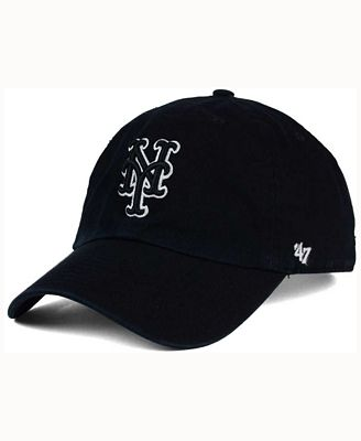 '47 Brand New York Mets Black White Clean Up Cap