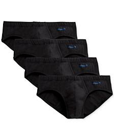 Men's 4 Pack Stretch Cotton Bikini Briefs