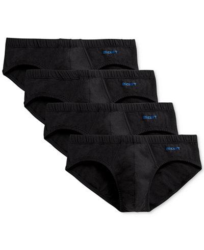 2(x)ist Men's 4 Pack Stretch Cotton Bikini Briefs