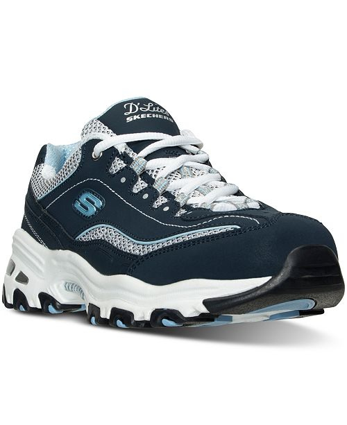 234382043a42 Skechers Women s D Lites - Life Saver Wide Width Running Sneakers from  Finish ...