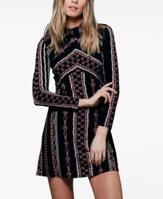 Free People Athena Printed Mini Dress - Polyvore