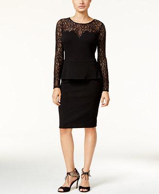 Thalia Sodi Lace Peplum Dress, Created for Macy's ...