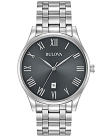 Bulova Men's Stainless Steel Bracelet Watch 40mm 96B261