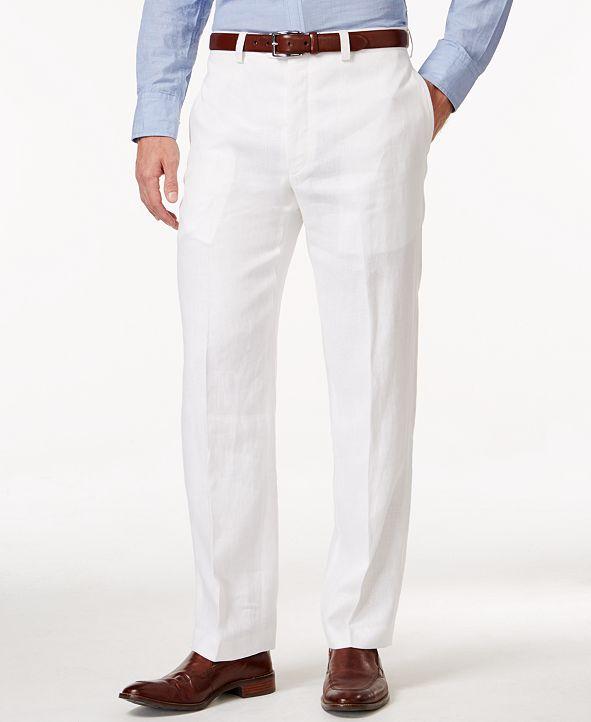 Lauren Ralph Lauren Solid Linen Dress Pants