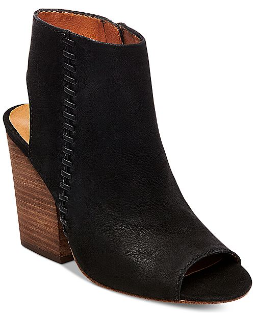 Steve Madden Women's Mingle Peep-Toe Block-Heel Booties