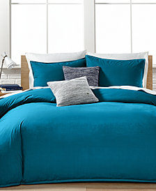 CLOSEOUT! Lacoste Home Relaxed & Washed  Blue Sapphire King Duvet