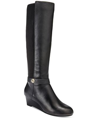 giani bernini dafnee wide calf wedge boots only at