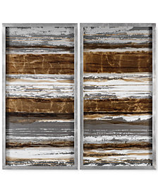 Uttermost Metallic Layers 2-Pc. Modern Wall Art