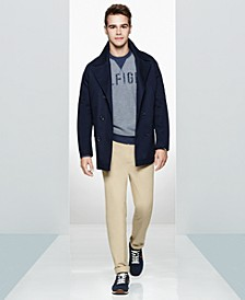 Men's Peacoat, Graphic Sweater, Chino Pants  & Low-Top Sneakers, Created for Macy's