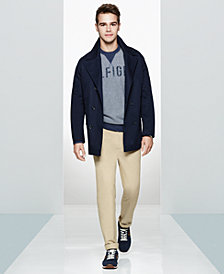 Tommy Hilfiger Men's Peacoat, Graphic Sweater, Chino Pants  & Low-Top Sneakers, Created for Macy's