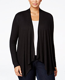 I.N.C. Plus Size Draped Cardigan, Created for Macy's