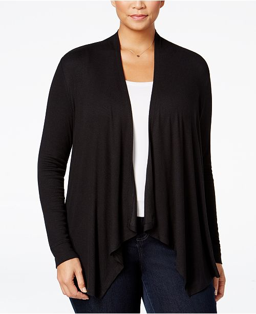 INC International Concepts I.N.C. Plus Size Draped Cardigan, Created for Macy's