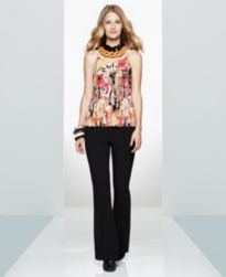 I.N.C. Floral-Print Camisole & Bootcut Pants, Created for Macy's