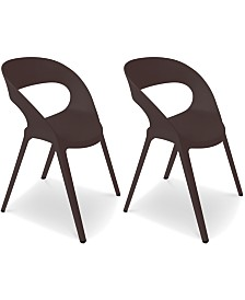 Carla Indoor/Outdoor Chairs (Set Of 2), Quick Ship