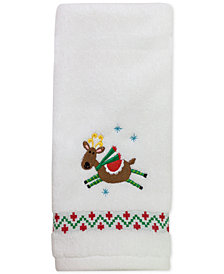 "CLOSEOUT! Dena Flying Reindeer 16"" x 28"" Hand Towel"