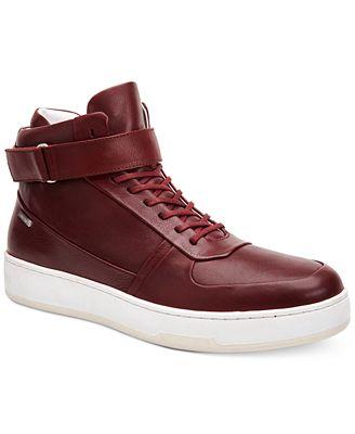 calvin klein s navin fashion athletic leather high top