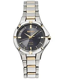 Women's Solar Dress Sport Two-Tone Stainless Steel Bracelet Watch 27mm SUT316