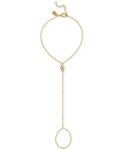 RACHEL Rachel Roy Gold-Tone Crystal Hand Chain