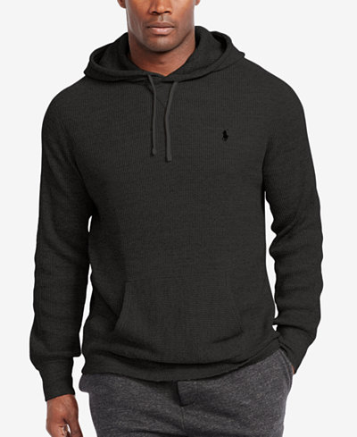 polo ralph lauren men 39 s waffle knit hoodie sweaters men macy 39 s. Black Bedroom Furniture Sets. Home Design Ideas
