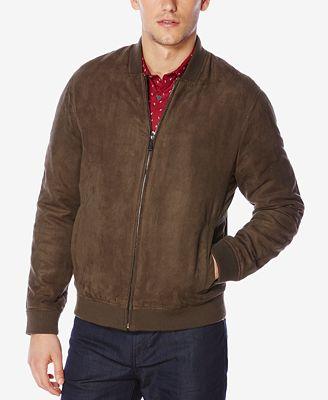 Perry Ellis Men's Faux Suede Jacket - Coats & Jackets - Men - Macy's