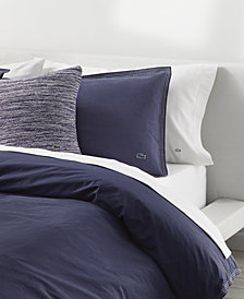 CLOSEOUT! Lacoste Home Relaxed & Washed  Indigo Blue Twin/Twin XL Duvet Set