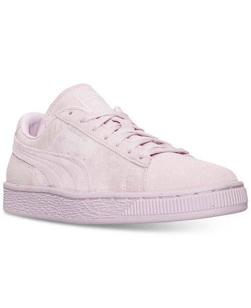 03f3e310f308 ... Puma Women s Suede Classic Emboss Casual Sneakers from Finish ...