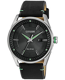 Citizen Drive from Citizen Eco-Drive Men's Black Leather Strap Watch 42mm BM6980-08E