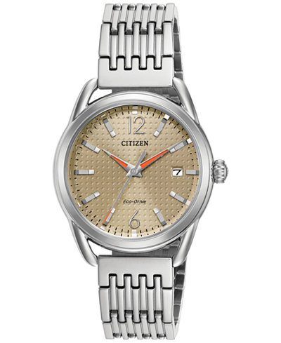 Citizen Drive from Citizen Eco-Drive Women's Stainless Steel Bracelet Watch 34mm FE6080-54X