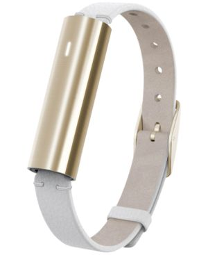 Unisex Ray White Leather Band Activity Tracker 12X38Mm Mis1004