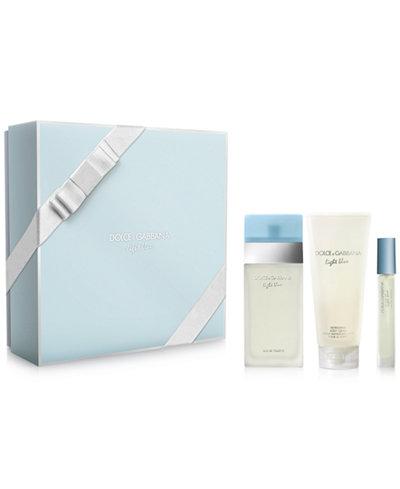 Dolce Amp Gabbana 3 Pc Light Blue Eau De Toilette Gift Set
