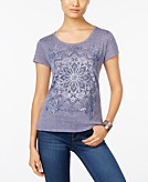 Style & Co Petite Medallion Mirage Graphic T-Shirt Only at Macys