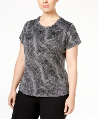 Nike Plus Size Printed Miler Top