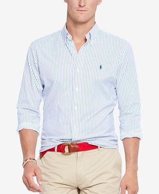 Polo ralph lauren men 39 s men 39 s long sleeve striped stretch for Stretch polo shirt mens