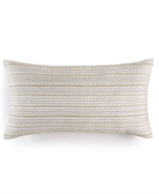 """Linen Natural 14"""" x 26"""" Decorative Pillow, Created for Macy's"""