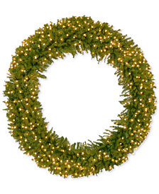 "National Tree Company 72"" Norwood Fir Wreath with 450 Clear Lights"