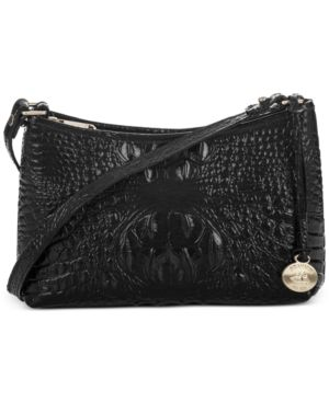 Image of Brahmin Anytime Mini Melbourne Embossed Leather Shoulder Bag